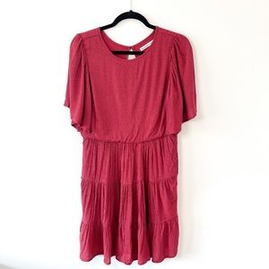 NWT Abercrombie&Fitch Red Dots Layered Boho Dress